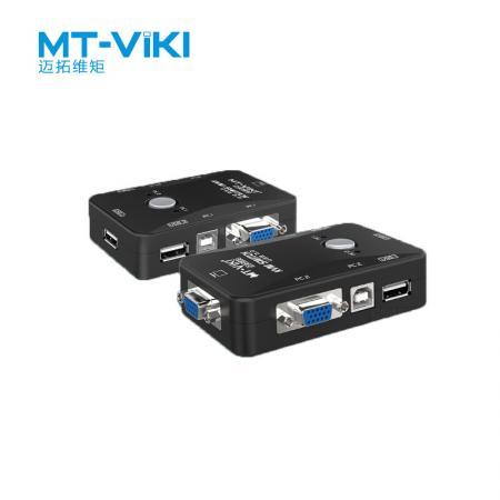 迈拓维矩kvm切换器_迈拓维矩 多电脑KVM切换器 USB2.0 MT-201UK-CH 2口_集线/分线/分配/转换 ...